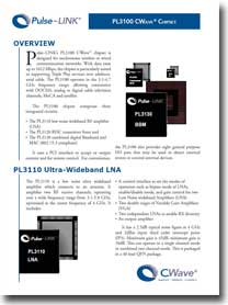 Pulse-LINK CWave 3100 Chipset Product Brief